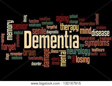 Dementia, Word Cloud Concept 5