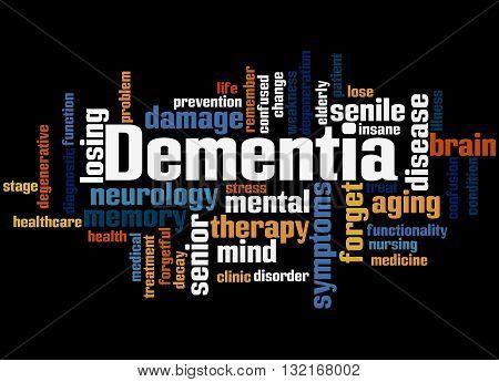 Dementia, Word Cloud Concept 8