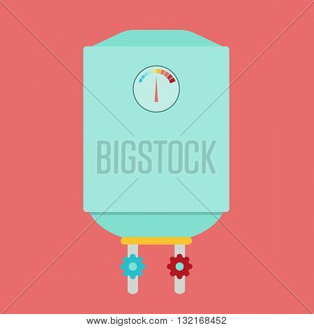 Boiler flat style vector illustration .Boiler icon on white background. Boiler isolated vector
