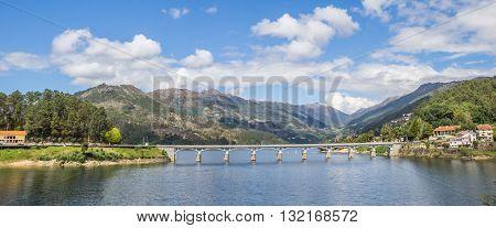 Panorama Of A Bridge In Peneda Geres National Park