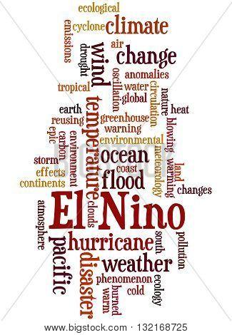 El Nino, Word Cloud Concept 3