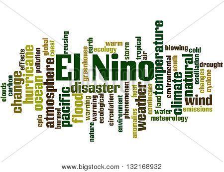 El Nino, Word Cloud Concept 9