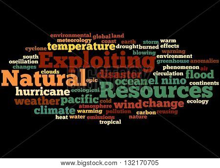 Exploiting Natural Resources, Word Cloud Concept 5