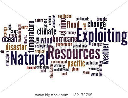 Exploiting Natural Resources, Word Cloud Concept 8