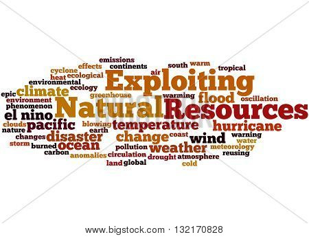 Exploiting Natural Resources, Word Cloud Concept 9