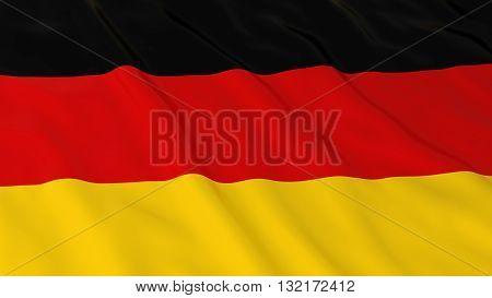 German Flag HD Background - Flag of Germany 3D Illustration
