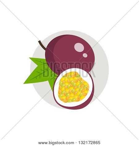 Passionfruit icon. Passionfruit icon flat. Passionfruit icon art. Passionfruit icon flat illustration. Passionfruit icon vector. Passionfruit icon vector image.