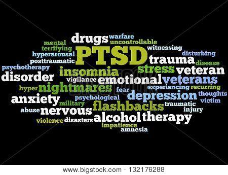 Posttraumatic Stress Disorder - Ptsd, Word Cloud Concept 4