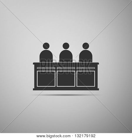 Jurors icon on gray background. Vector illustration