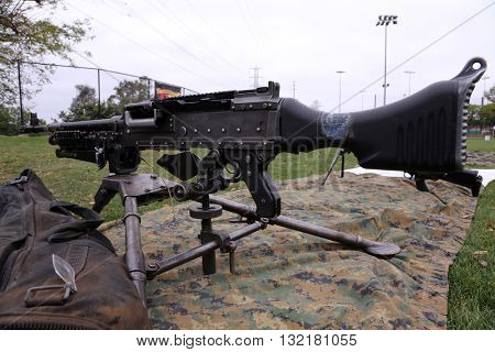 A genuine US M240B Military Machine Gun in 7.62 mm Caliber.
