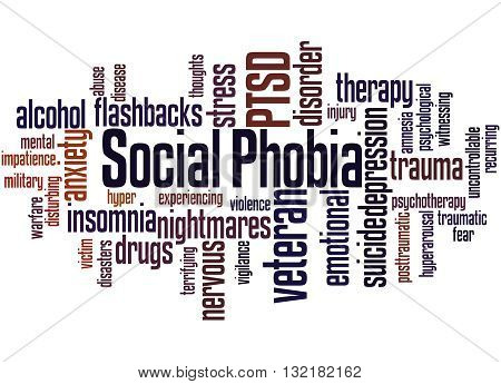 Social Phobia And Ptsd, Word Cloud Concept 4