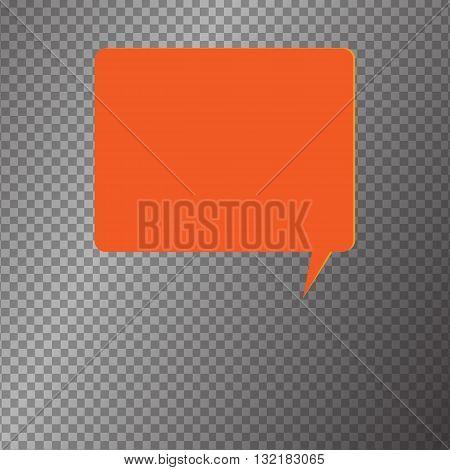 Vector modern banner icon buble speesh illustration