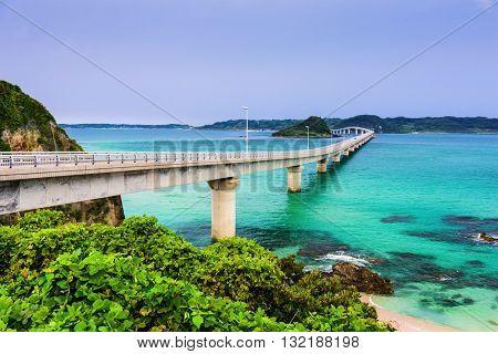 Tsunoshima Ohashi Bridge in Shimonoseki, Japan.