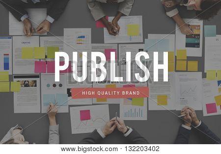 Publish Issue Post Distribute Article Concept