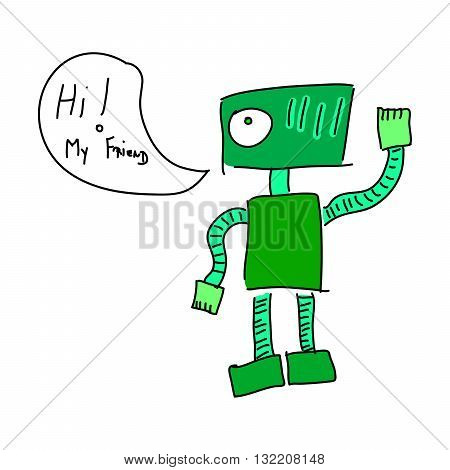 Green Friendly Robot