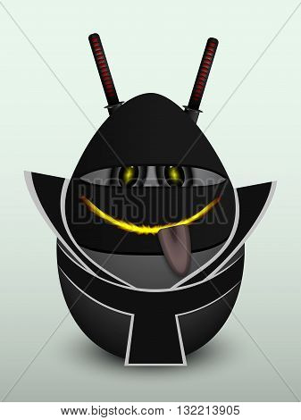 Egg Black Ninja Mask