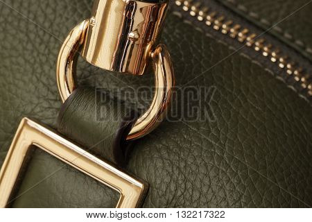 Background details handbags from a genuine leather and metal fittings