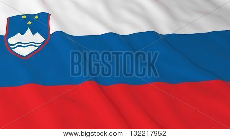 Slovenian Flag HD Background - Flag of Slovenia 3D Illustration