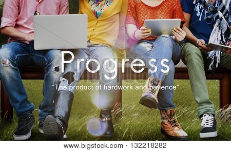 Progress Product Hardwork Patience Graphic Concept