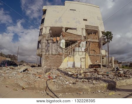 Manabi - 04 May 2016: Collapse Of Cities From Earthquake Ecuador, South America, April 16Th 2016 In Manabi On May 04 2016