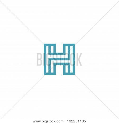 Impossible Letter H Logo design vector Linear Symbol Monogram