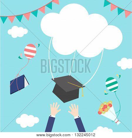 celebrations of happy graduation festival cloud sky
