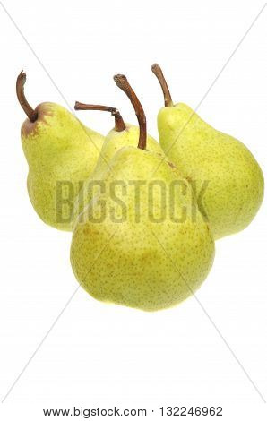 A group of Australian Grown Pears isolated on a white background