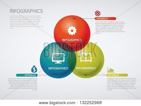 Vector Illustration:   info graphics - Venn diagram