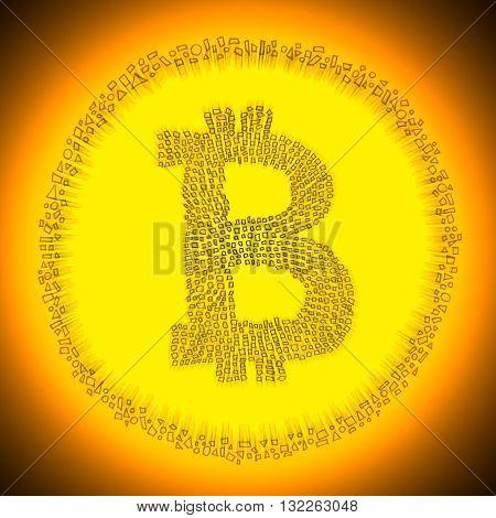 Digital Blockchain Bitcoin Technology Logo