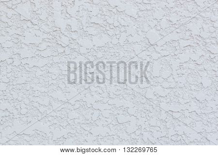 Texture Of White Cement Gravel Concrete Wall