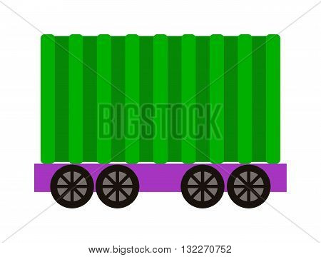 Vector wagon train cargo wagon and wagon train tank. Cars wagon train and wagon train transport railroad. transportation railway locomotive part wagon train and retro vehicle wagon train.