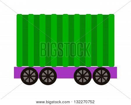 Vector wagon train cargo wagon and wagon train tank. Cars wagon train and wagon train transport railroad. transportation railway locomotive part wagon train and retro vehicle wagon train.