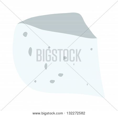 White cheese slice isolated on white background food healthy product, snack frash milk gourmet breakfast vector illustration. Milk fresh cheese slice and healthy cheese slice. Gourmet cheese slice.