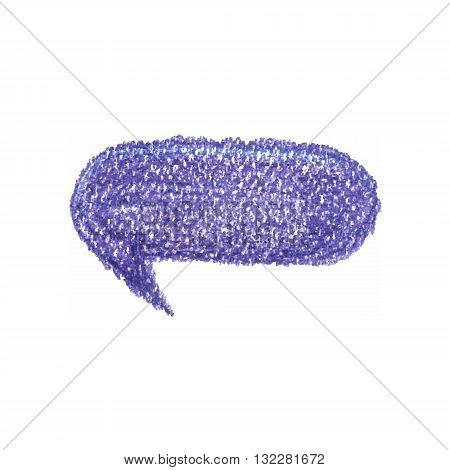 Violet bubble vector symbol in pastel colour