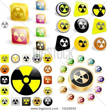 Radioactive icon. Vector great collection.
