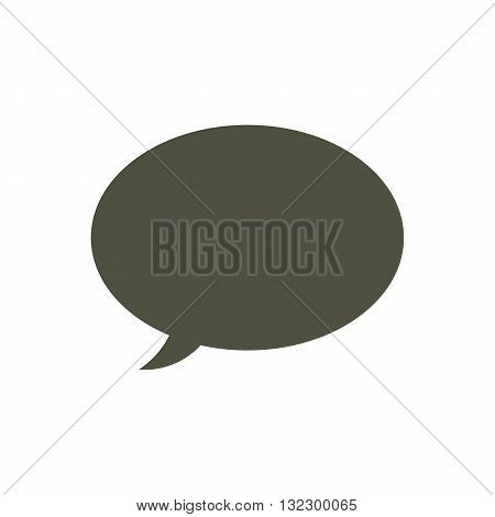 Speech bubble or talking cloud vector illustration isolated on white background.