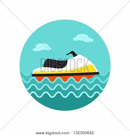 Jet Ski vector icon. Beach. Summer. Summertime. Vacation eps 10