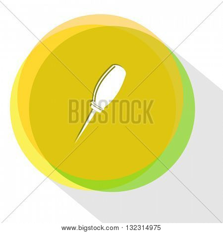 awl. Internet template. Vector icon.