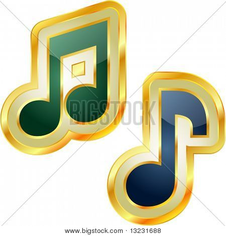 Vector music button set