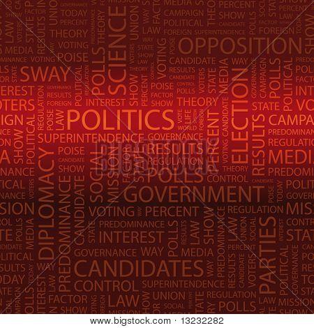 POLITIEK. Word collage. Vectorillustratie.