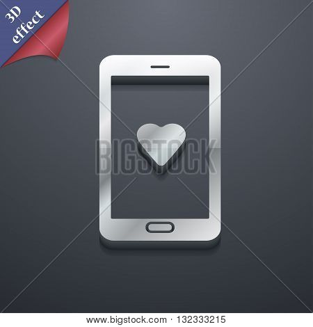 Love Letter, Valentine Day, Billet-doux, Romantic Pen Pals Icon Symbol. 3D Style. Trendy, Modern Des