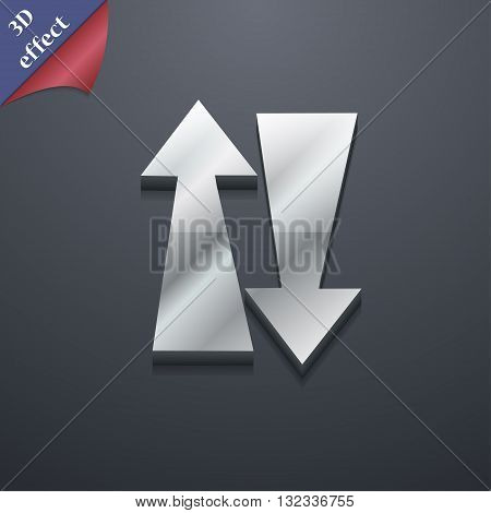 Two Way Traffic, Icon Symbol. 3D Style. Trendy, Modern Design With Space For Your Text Vector