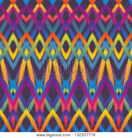Geometric ethnic ikat pattern seamless design for background or wallpaper.