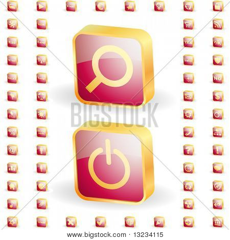 Great collection of web buttons. Vector set.