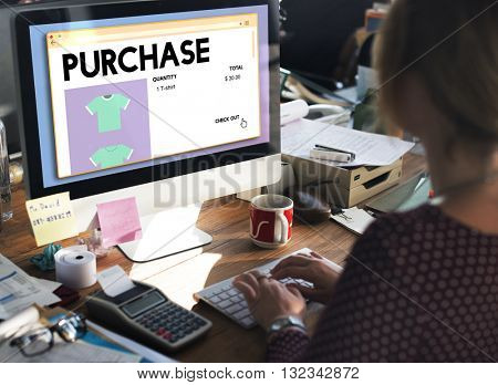 Purchase Buying Commerce Obtain Shopping Concept