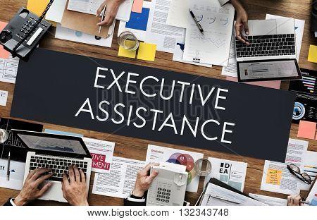 Executive Assistance Assistant Corporate Occupation Concept
