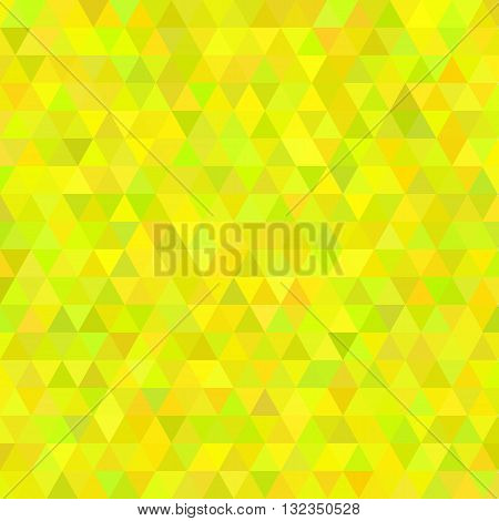 Abstract mosaic background. Hot yellow cubic geometric background. Design elements