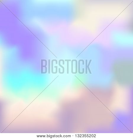 Pastel Colored Vector Hologram. Modent Style Trends 80 Background. Abstract Pearl Texture.