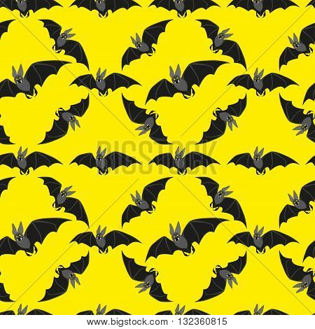 Bats on the Full Moon and starry sky background