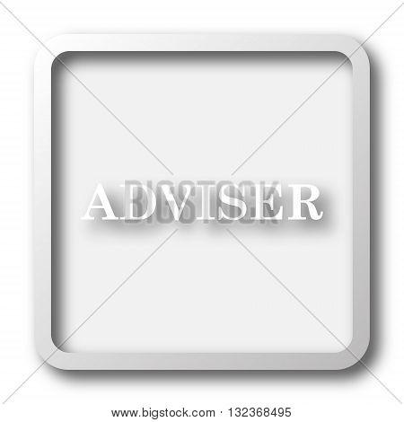 Adviser icon. Internet button on white background. poster